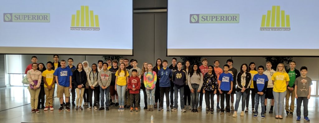 The 40 students who participated in 2019 Indiana State YBTC Challenge